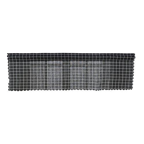 Vorcool cortina tenda decorativa schermata ombreggiata purdah cortina mantovana per cucina casa 145x45cm (griglia nera)