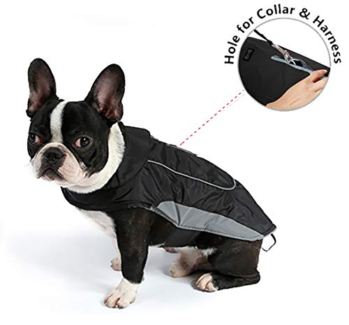 Morezi Premium Outdoor Sport Waterproof Dog Jacket Winter Warm Large Dog Coat with Harness Hole Red 1