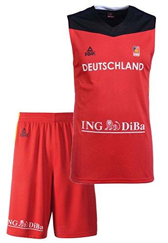Peak Sport Europe Hombre Peak Set Alemania 2016Red Camiseta, Hombre, Peak Trikot Set Germany 2016 Red, Rojo