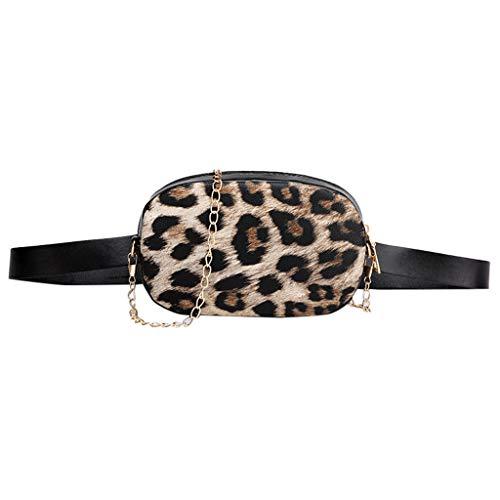 Riñonera de Moda Riñoneras para Mujer Leopardo Moda Vestir Deportiva Running Cinturón Correr Cinturón de Dinero Bolsos de Playa Bandolera Bolsa de Pecho Bolsas de Cintura vpass