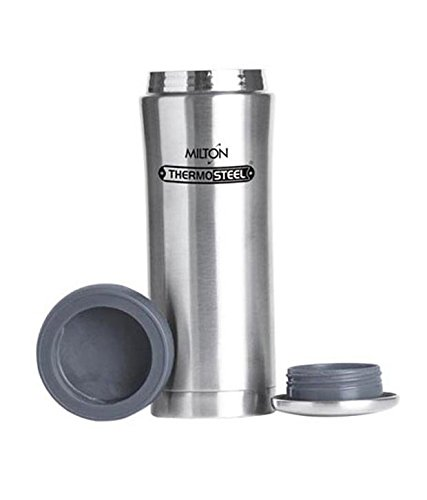 Milton Thermosteel Optima 420 Stainless Steel Flask, 420ml, Steel