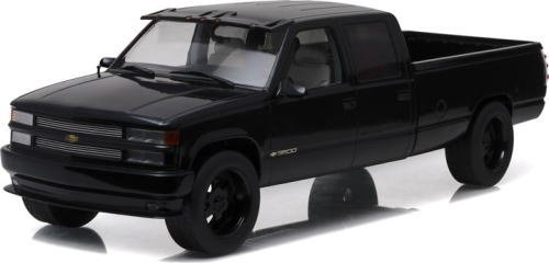 1997-chevrolet-c-2500-crew-cab-silverado-pickup-truck-black-1-18-diecast-model-car-by-greenlight