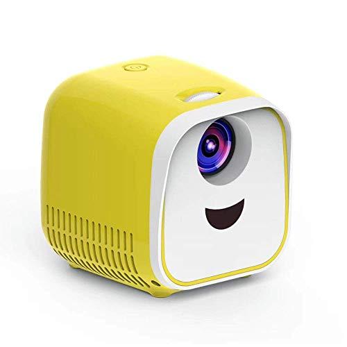 AAFLY Mini-Projektor, LED-bewegliche Projektor-Taschen Pico Projektor großes Geschenk für Kinder, HD 1080P unterstützt, Kinder Mini Early Education-Projektor, Heimkino und Outdoor-Projektor (Yellow)