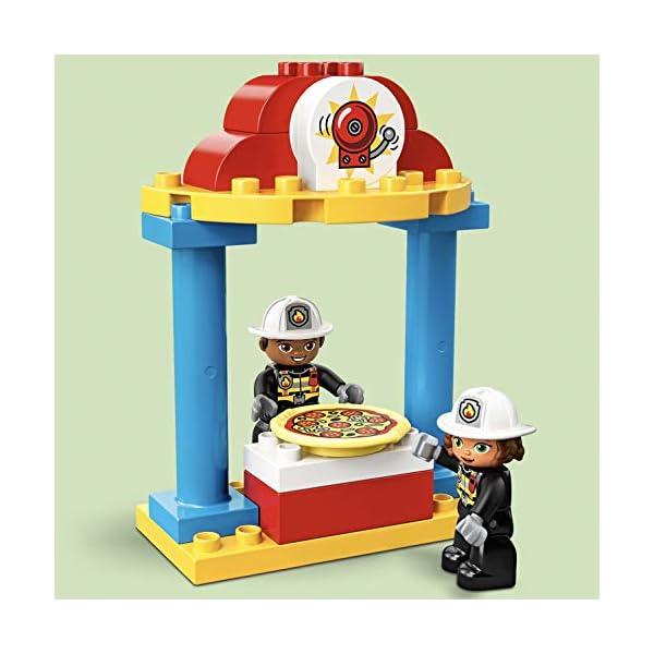 LEGO DUPLOTown CasermadeiPompieri, Luci e Suoni, Autopompa e 2 Figure dei Pompieri,Giocattoli per Bambini dai 2 ai 5 Anni, 10903 3 spesavip