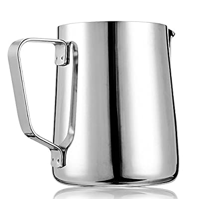 Dailyart Milk Jug Milk Cup Milk Frothing Pitcher, Stainless Steel