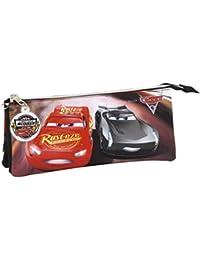 Safta Cars 3 Estuches, 22 cm, Multicolor