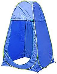 Pop Up tienda de campaña montaña ducha playa Camping portátil al aire libre senderismo azul tiendas de campaña