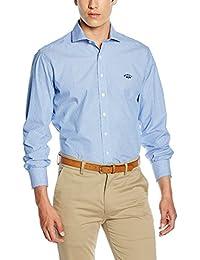 Spagnolo, Camisa Jacquard Cutaway 0098 - Camisa para hombre