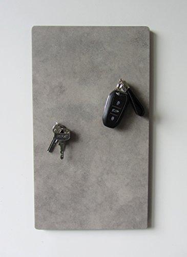 """Magnet-Schlüsselbrett, Schlüsselboard mit Vinyloberfläche in Optik """"Beton"""" und einer Größe von 40cm x 22,5cm"""