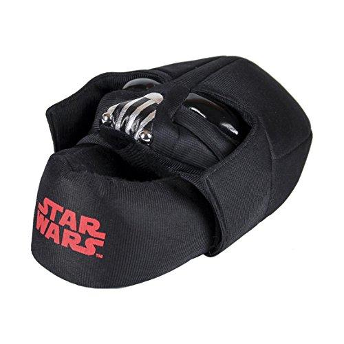 Disney star wars chaussons peluche 3d - garçon - noir