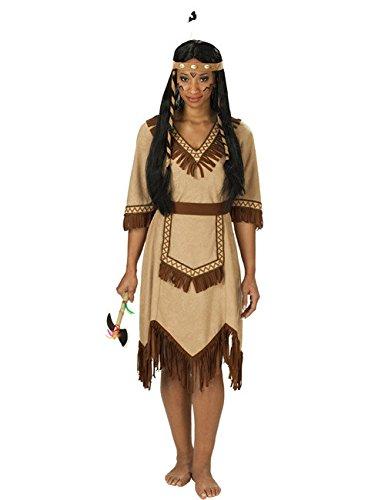 Apachen Indianerin Damenkostüm braun 48