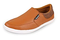 Quarks Casual Mens Tan Synthetic Loafers-10 UK
