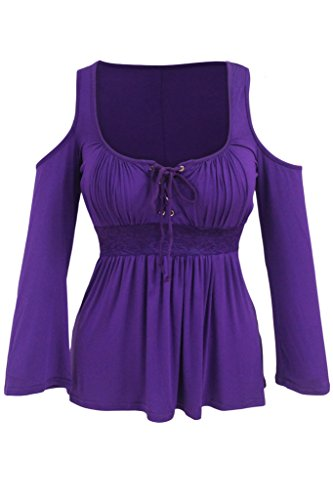 Chase Secret - T-shirt de sport - Taille empire - Femme Violet