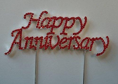 Ruby Wedding Anniversary Cake Decoration Ruby Wedding Happy Anniversary Cake Topper
