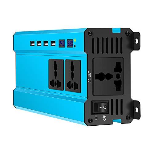 TiooDre 5000W Auto Power Inverter DC 24V a 220V AC Convertidor automático con toma de corriente y dos puertos USB Conector de adaptador automático para tablet PC portátil