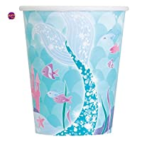 Ayush party 9oz Mermaid Party Cups, Pack of 8