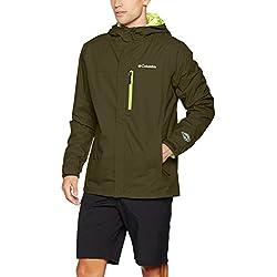 Columbia Pouring Adventure II Jacket Chaqueta Impermeable, Aislamiento térmico sintético Hi-Loft, Hombre, Verde (Peatmoss/Fisson), S