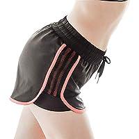 Zgsjbmh Mujer Pantalones Cortos Ropa de Fitness Pantalones de Fitness de Secado rápido con Rayas Elásticos de Estiramiento rápido Pantalones Cortos Running Pantalones Cortos de Yoga