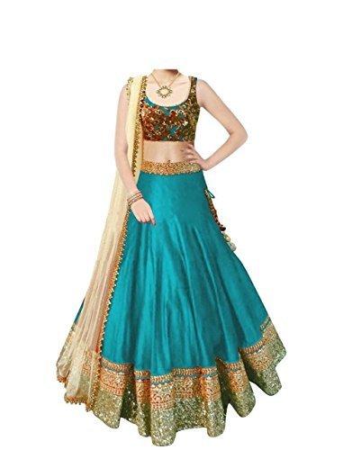 vaankosh fashion Multicolor Cotton Women's Untitched Lehenga Choli (B01Hq1Y5L0_Free Size)