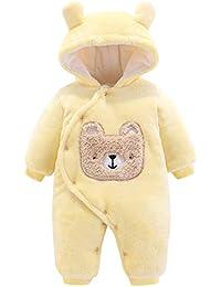 Fossen Kids Ropa de Bebe Niña Recien Nacida con Botón Caricatura Mameluco Abrigo de Niño Niña - Monos Ropa Bebe Niña Otoño Invierno 0-12 Meses