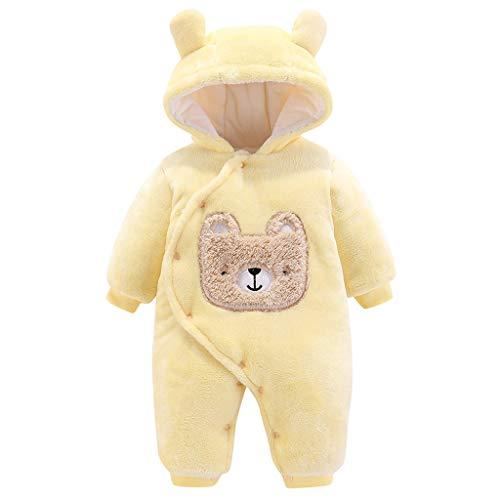 LEXUPE Baby Schneeanzug Jungen Strampler Mädchen Overall Winter Babykleidung(Gelb,80) -