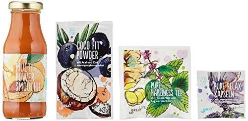Abnehmen Diät Kur | 1 Woche | 28 Superfood-Produkte | Inkl. 100% vegetarischer Ernährungsplan + 3 Rezepte täglich | Vitalität | Weight Loss | Negative Kalorienbilanz | Fitness-Übungen | Coaching
