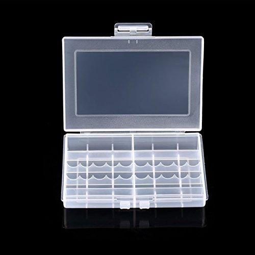 Heaviesk Transparente Hartplastik-Hülle LEISE 8002-Akkus Aufbewahrungskoffer Halter Akkubox Für 10 x AA- oder 14 x AAA-Batterien
