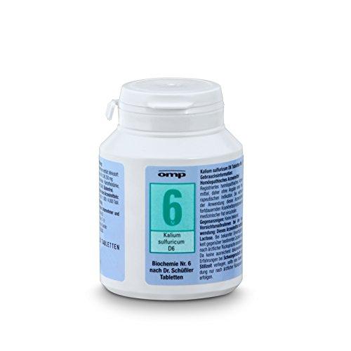 Schuessler Salz Nr. 6 Kalium sulfuricum D6 - 400 Tabletten, glutenfrei