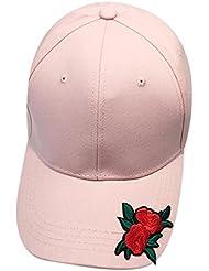 Vovotrade® ❃❃ Femmes Hommes Casquette de Baseball Couple Rose Broderie Unisexe Snapback Hip Hop Flat Ventilate Hat