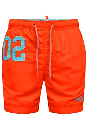 Superdry Herren Water Polo Swim Shorts, Arancione (Havana Orange Vqh), Large (Herstellergröße: L)