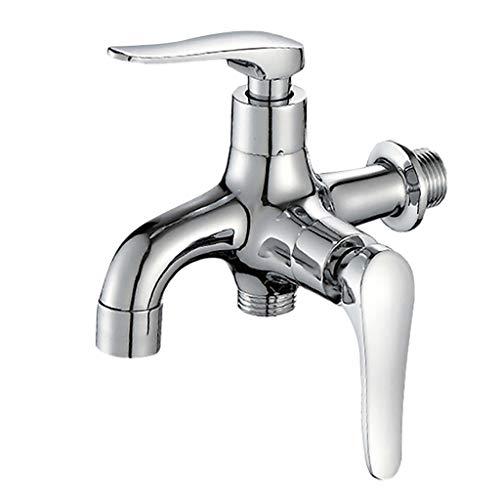 Waschwasserhahn, Webla, Waschmaschine Wasserhahn 4 Punkte Für Die Spüle Wasserhahn Oder Bad Wasserhahn, Kupfer Silber -