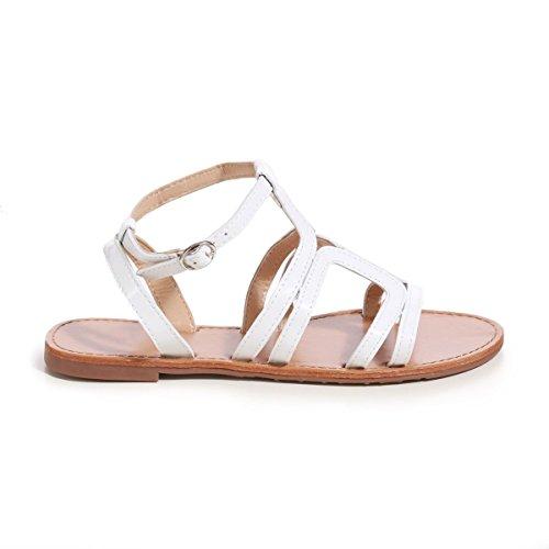 La Modeuse - Sandales plates femme Blanc