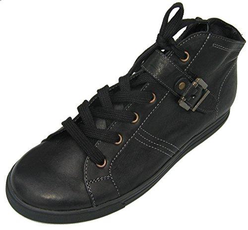 Semler C91091-030-001 Cris-Stf Damen Sneaker Weite H Schwarz