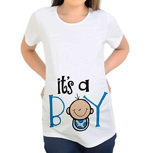 Schwangerschaft Mutterschaft T-shirt (MEIHAOWEI Cartoon Mutterschaft Top Lustige Schwangerschaft T-Shirts Schwangere T-Shirt Y047 L)
