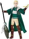 Harry Potter Poupée  Quidditch Drago Malefoy de 27cm avec Balai Nimbus 2001 et vif d'or, à collectionner, jouet enfant, GDJ71