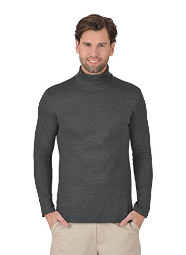 Trigema Herren Rollkragen Langarmshirt Anthrazit-Melange
