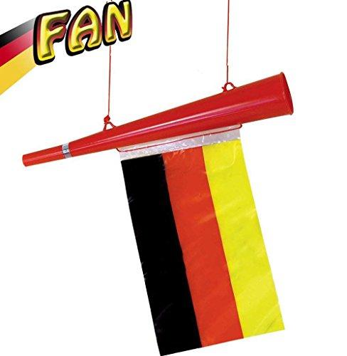 KarnevalsTeufel Tröte Fan Deutschland Hupe Horn Fanartikel