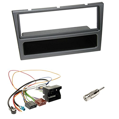 2-Din Doppel-Din Radioblende Blende mit Ablagefach + ISO Radioanschlusskabel Radio KFZ Adapter + Fakra Antennenadapter