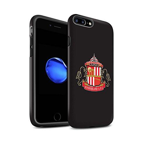 Offiziell Sunderland AFC Hülle / Matte Harten Stoßfest Case für Apple iPhone 8 Plus / Rot/Weiß Muster / SAFC Fußball Crest Kollektion Schwarz