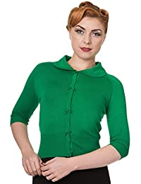 Green Plain Rockabilly Vintage Pinup Bolero Shrug Cropped Top By Banned Apparel