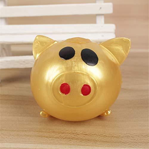 Schwein Stress Relief Squeeze Spielzeug Wasserball Vent Spielzeug Gag Kinder Spielzeug gold ()