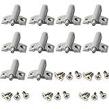 TYY-guang 10 Pcs Porte Souple Cabinet Calme Clapets tiroirs Closer buffers avec 20 vis pour réduire Le Bruit Tiroirs Rangements...