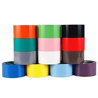 rzdeal Creative 6cm farbigen Rollen Duct Klebeband Bulk Pack Arts Crafts Wallet DIY Projekte (10Farben, zufällige Farbe)