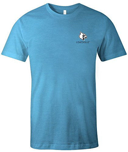 Image One NCAA Louisville Cardinals Erwachsenen-T-Shirt, Aztekenmuster, quadratisch, kurzärmlig, Größe L, Aqua