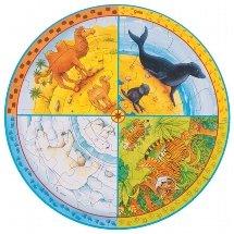 GOKI maderaPuzzles de maderaGOKIXXL Puzzle Animales, Multicolor (1)