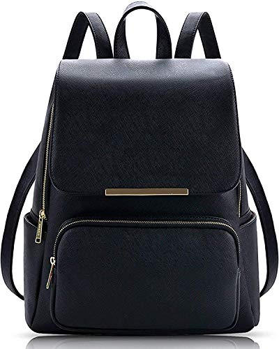 Diving Deep Black Casual Backpack for Stylish Girls Shoulder College/School Bag