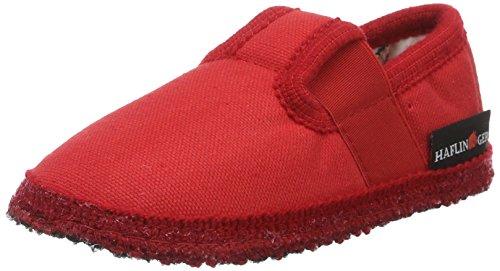 Haflinger Uno, chaussons d'intérieur mixte enfant Rot (rubin)