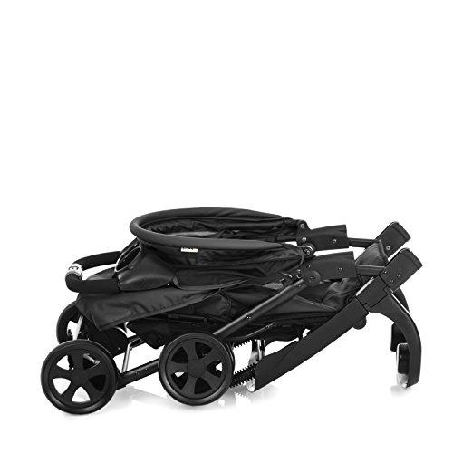 Hauck/Poussette Canne Shopper Neo II/avec position de couchage/pliage compact/utilisable de 6 mois jusqu'à 22 kg, noir gris (caviar silver)