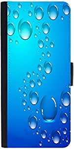 Snoogg Abstract Water Drops Background And Space For Your Text Designer Protective Phone Flip Case Cover For Htc Desire 526G Plus