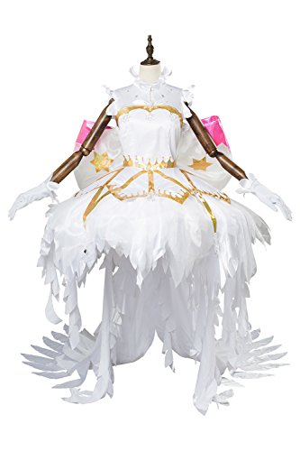 Cardcaptor Sakura:Clear Card Sakura Kinomoto Schneeengel Kleid Cosplay -